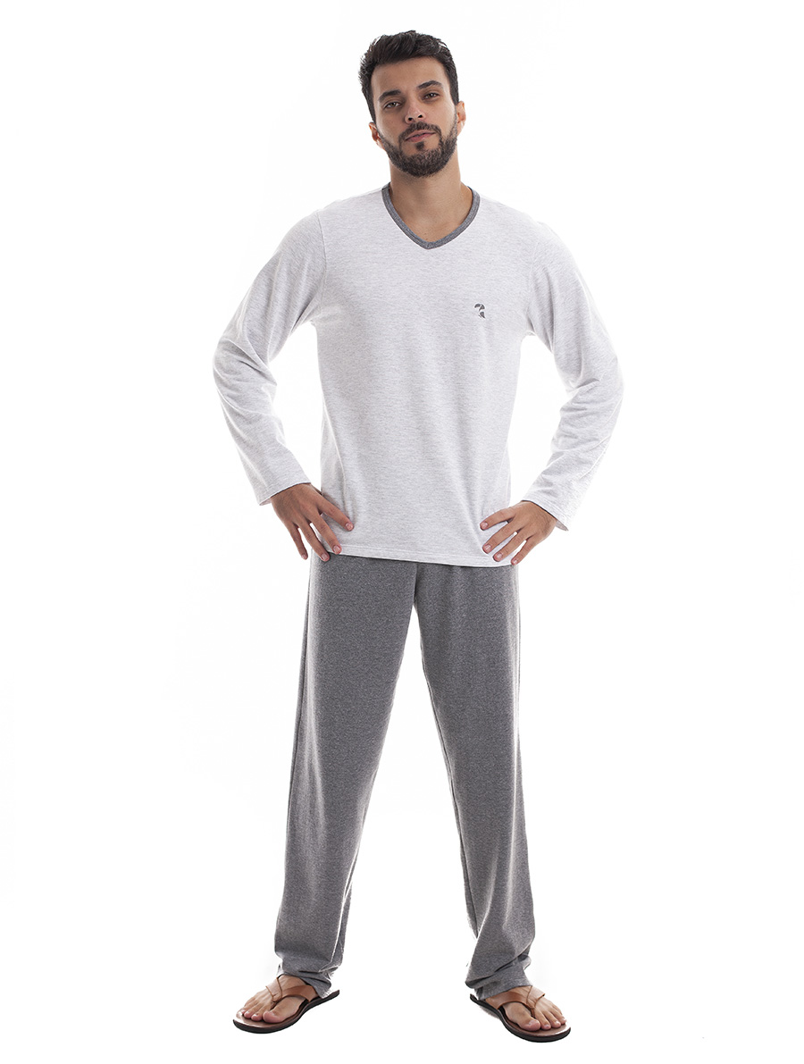 Pijama Longo Masculino para Frio em Moletinho Felpado