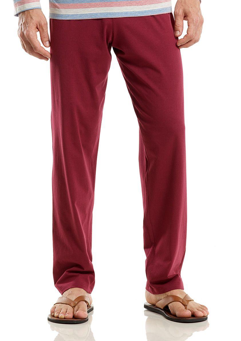 Pijama Longo de Meia Estação para Homem em Malha de Algodão Fio Tinto