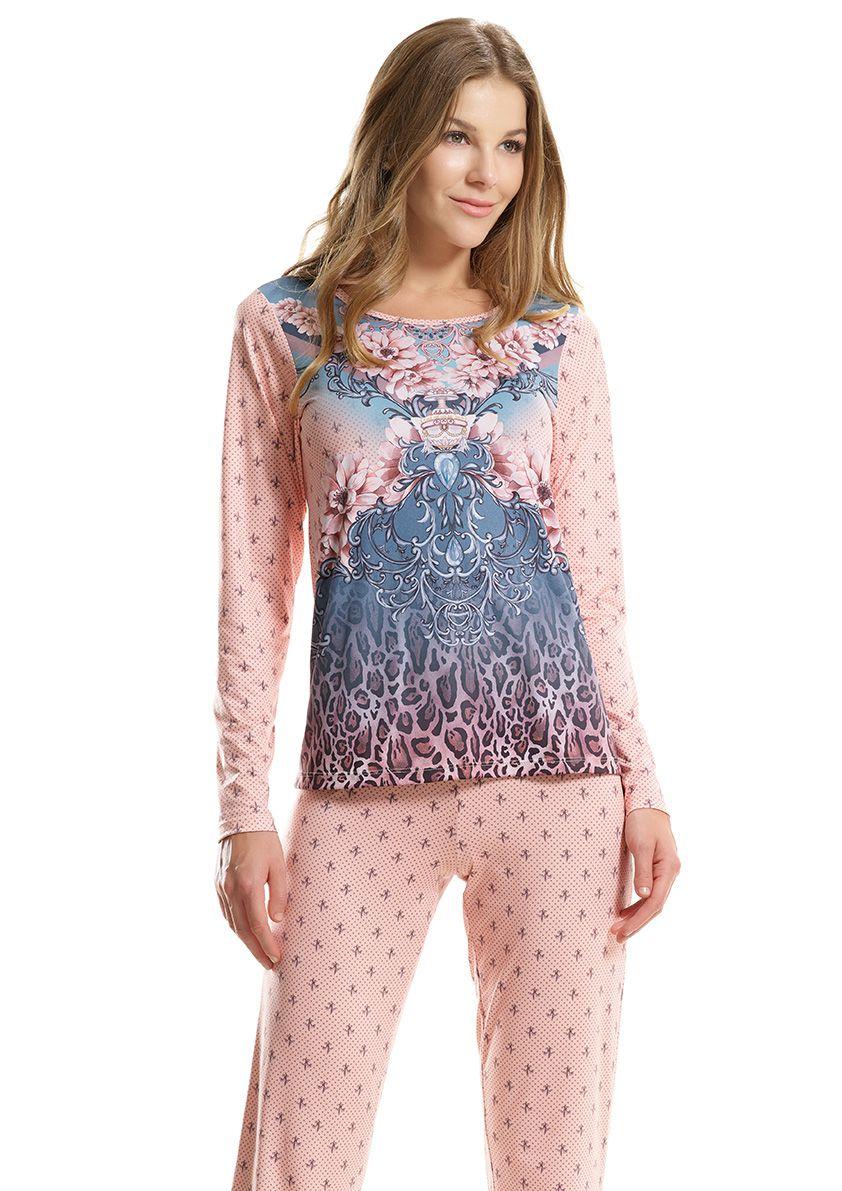 Pijama Longo para Frio em Microfibra Sublime Soft