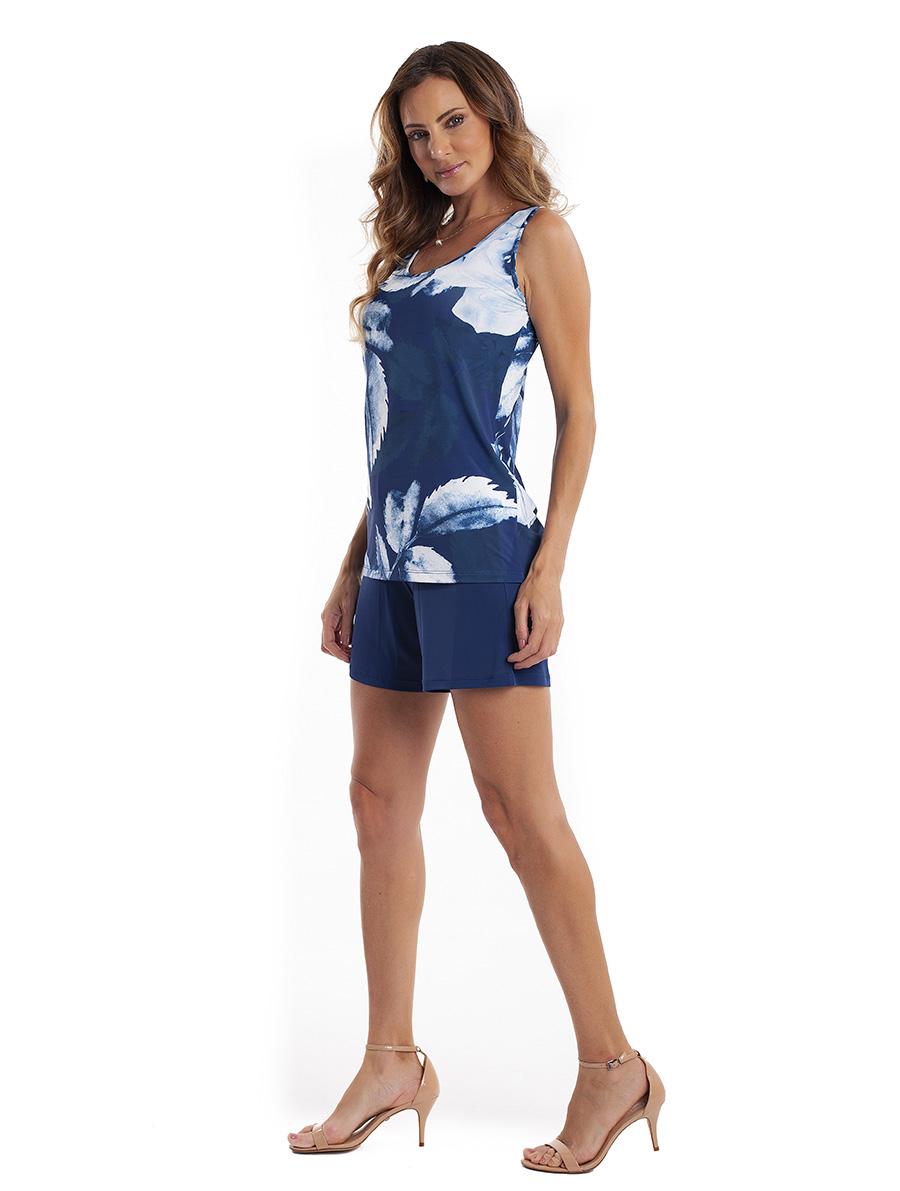 Pijama Regata com Bermuda em Liganete Super Light