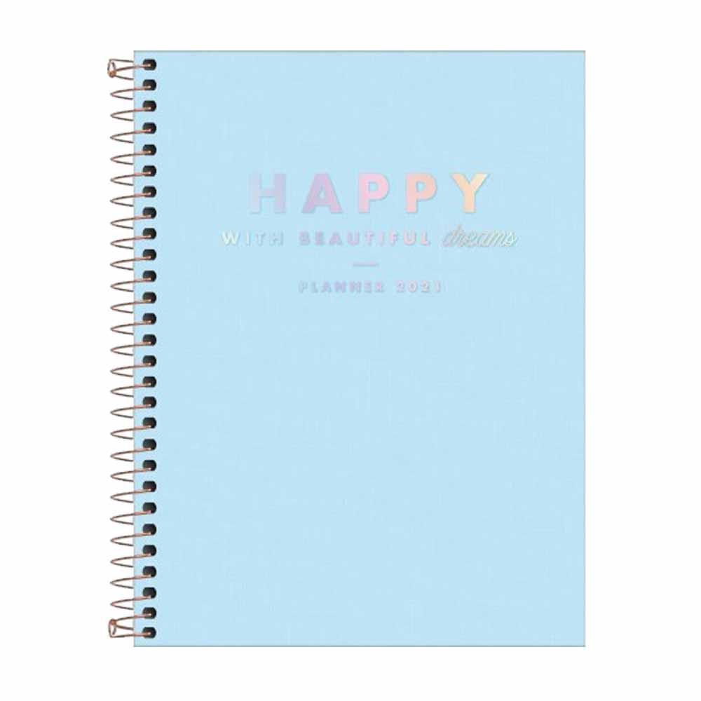 Agenda Planner Happy Azul - Tilibra