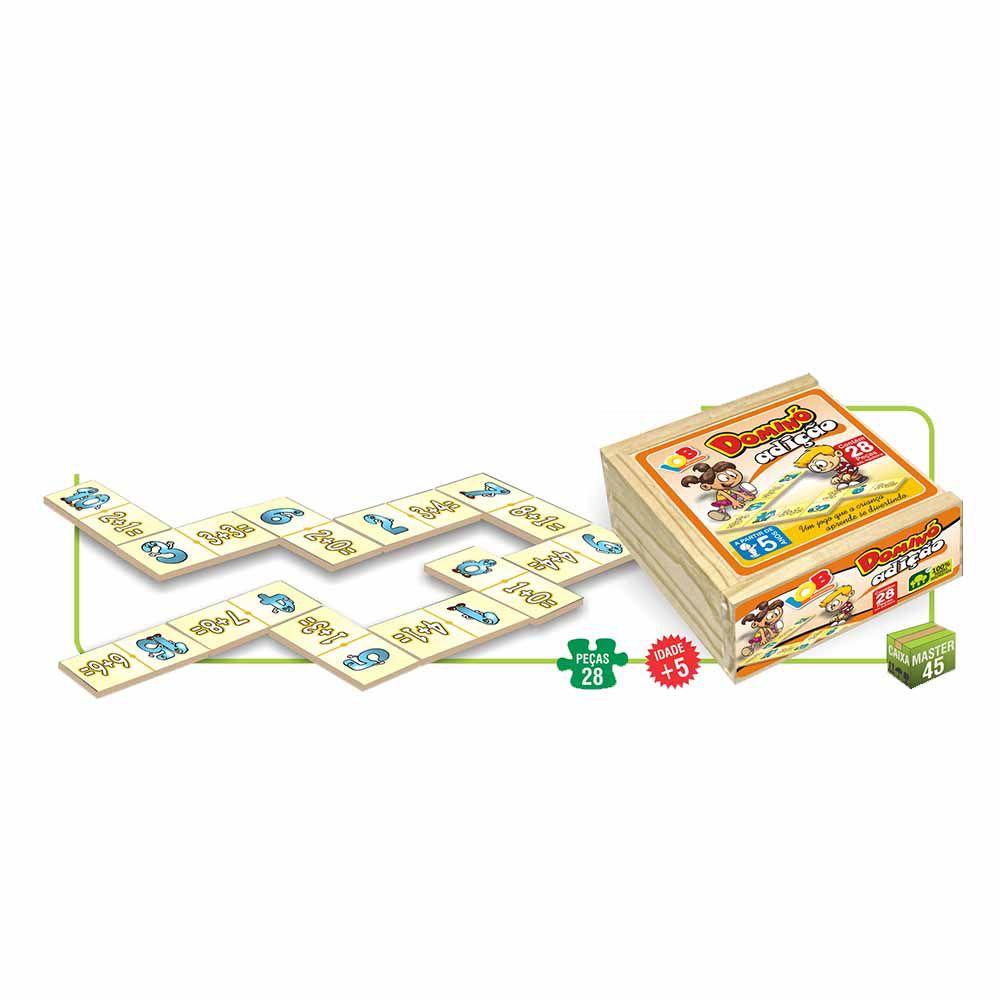 Brinquedo Pedagógico Dominó Divisão c/ 28 peças - IOB