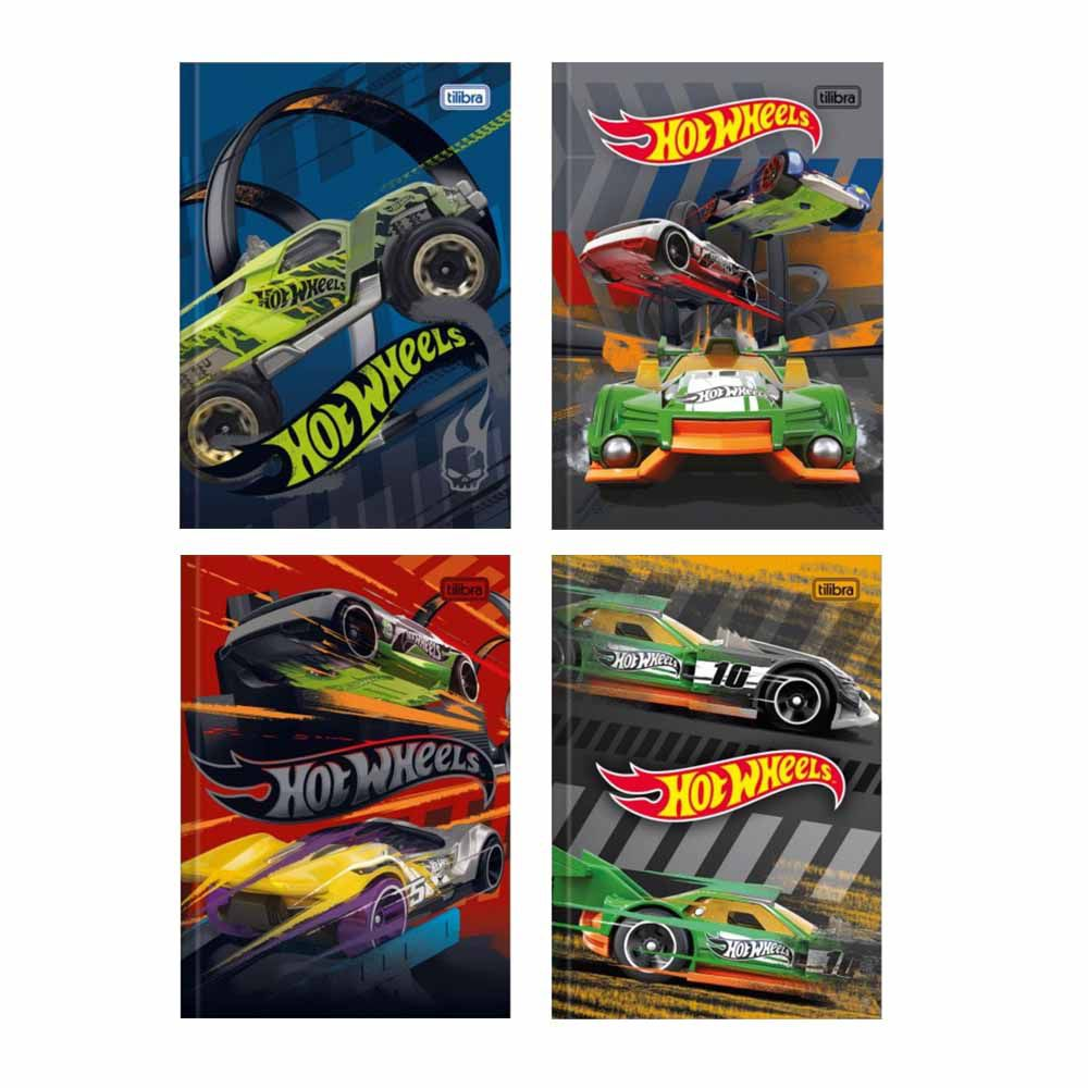 Caderno Brochura 1/4 96 folhas Hot Wheels - Tilibra