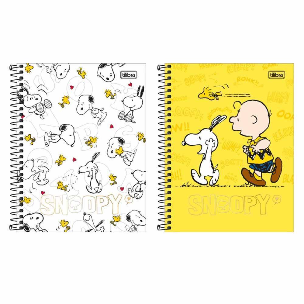 Caderno Colegial Snoopy 80fls 01 Matéria - Tilibra