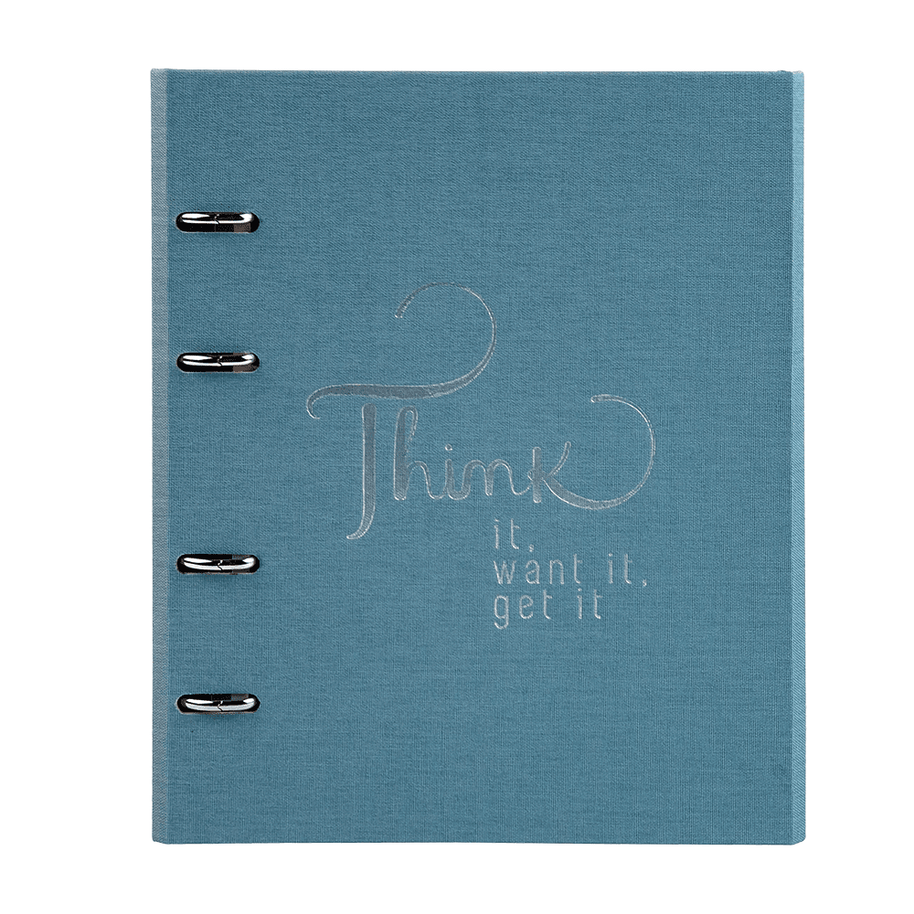 Caderno Fichario Ultra azul COTTON Ótima