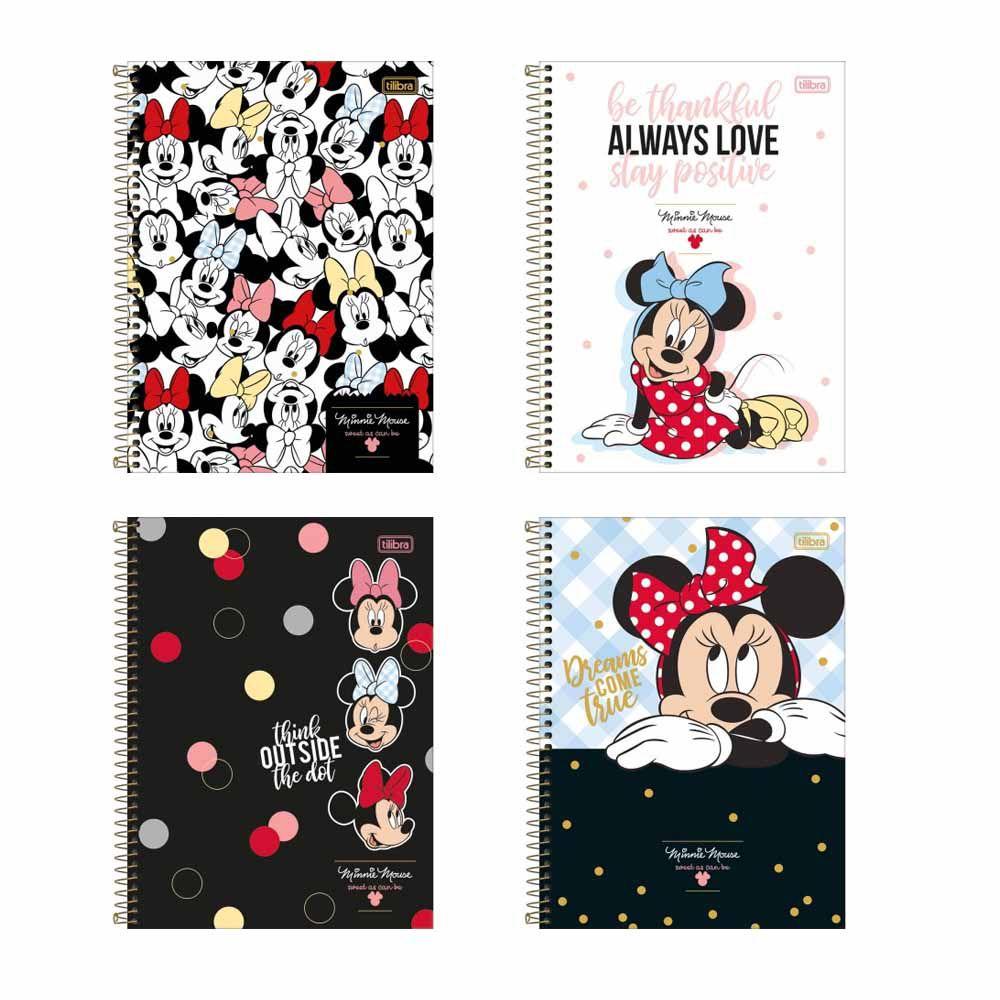 Caderno Universitário 10 Matérias 160FLS  Minnie Mouse - TILIBRA