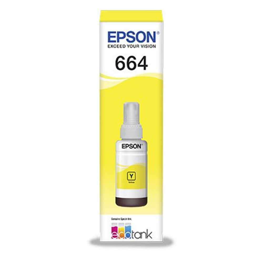 Cartucho Epson T664420 - Amarelo - Original