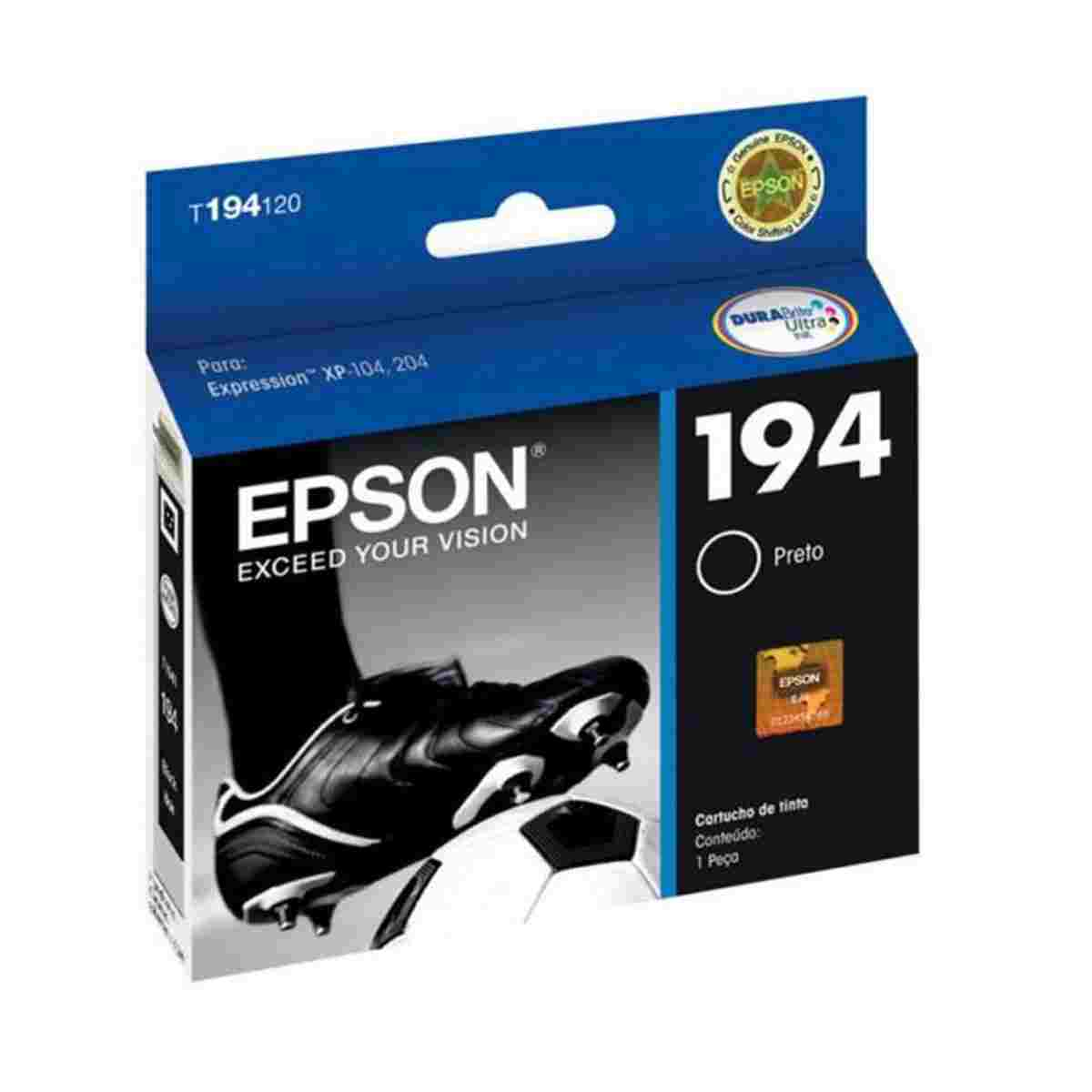 Cartucho Epson TO194120 - Preto - Original