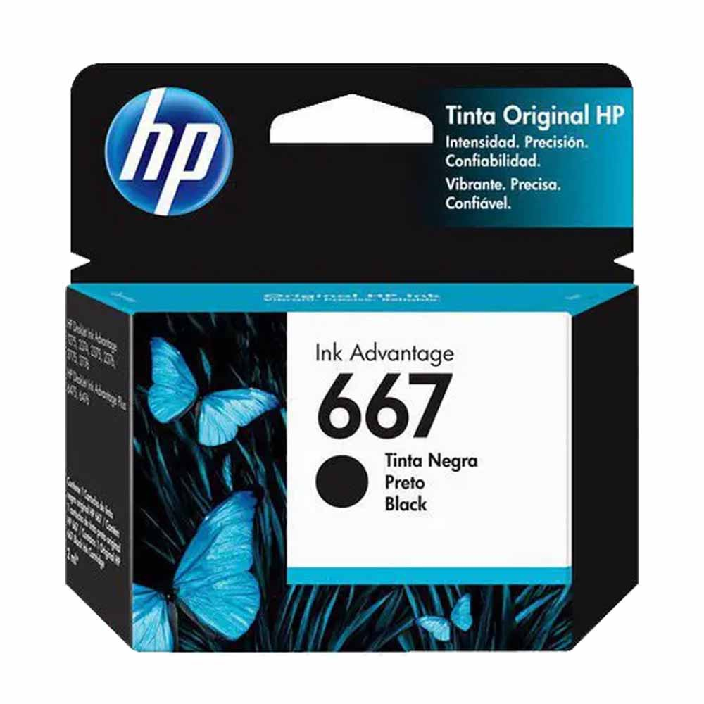 Cartucho HP 667 Preto - Original