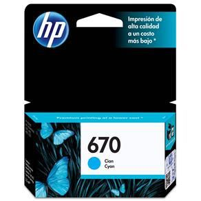 Cartucho  HP 670 Ciano CZ114 - Original