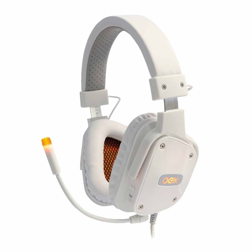Headset Gamer 7.1 USB LED SHIELD Branco HS-409 - OEX