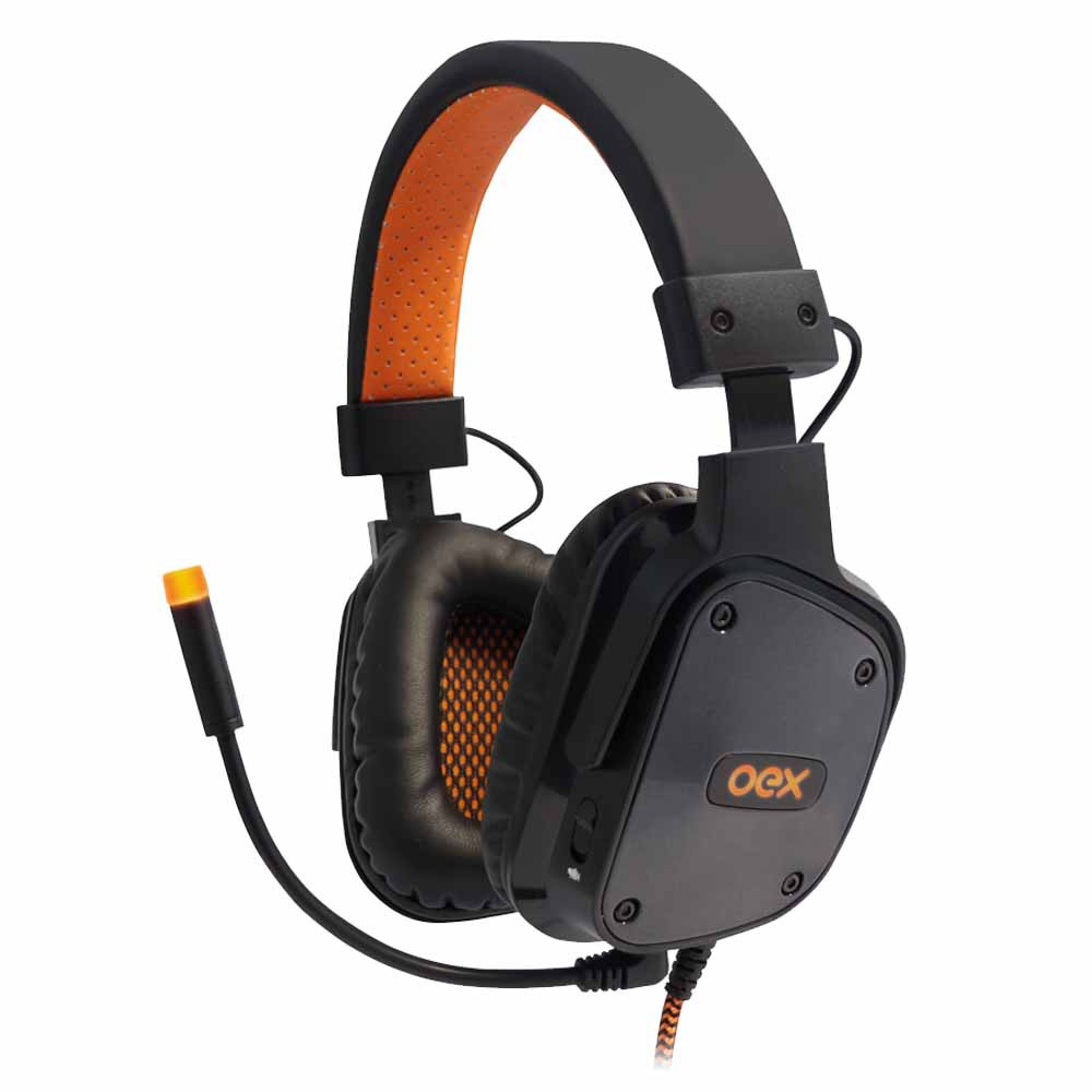Headset Gamer 7.1 USB LED SHIELD Preto HS-409 - OEX