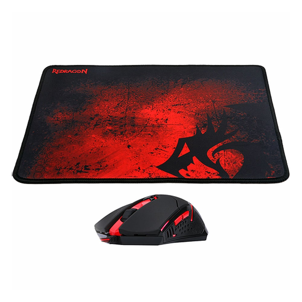 Kit Mouse e Mousepad Gamer M601-BA - Redragon