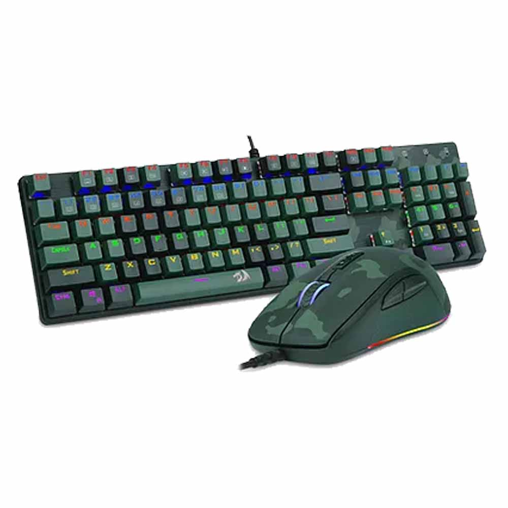 Kit Teclado + Mouse Gamer S108 Dark Green - Redragon