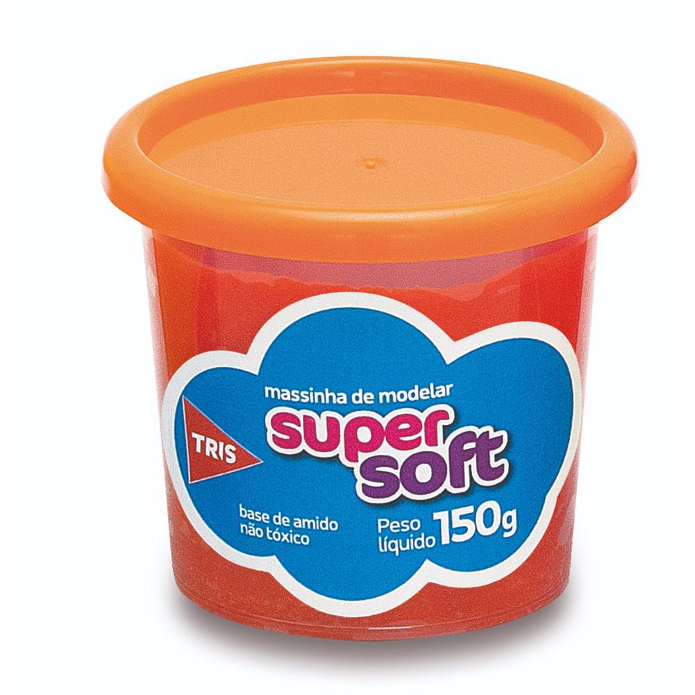 Massinha de Modelar Super Soft 150gr Laranja - TRIS