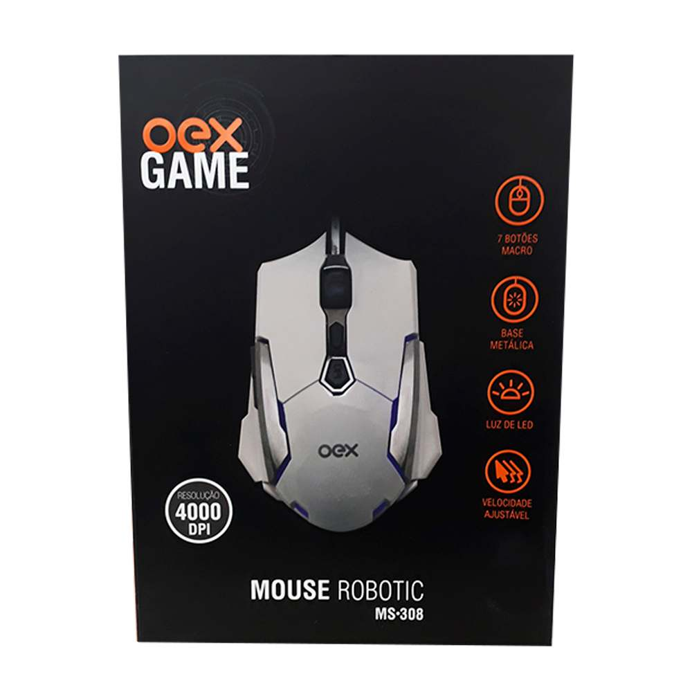 Mouse Gamer USB Robotic MS308 - Oex