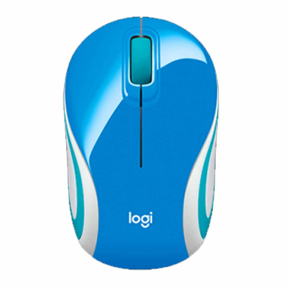 Mouse Logitech Mini Wireless M187 Azul