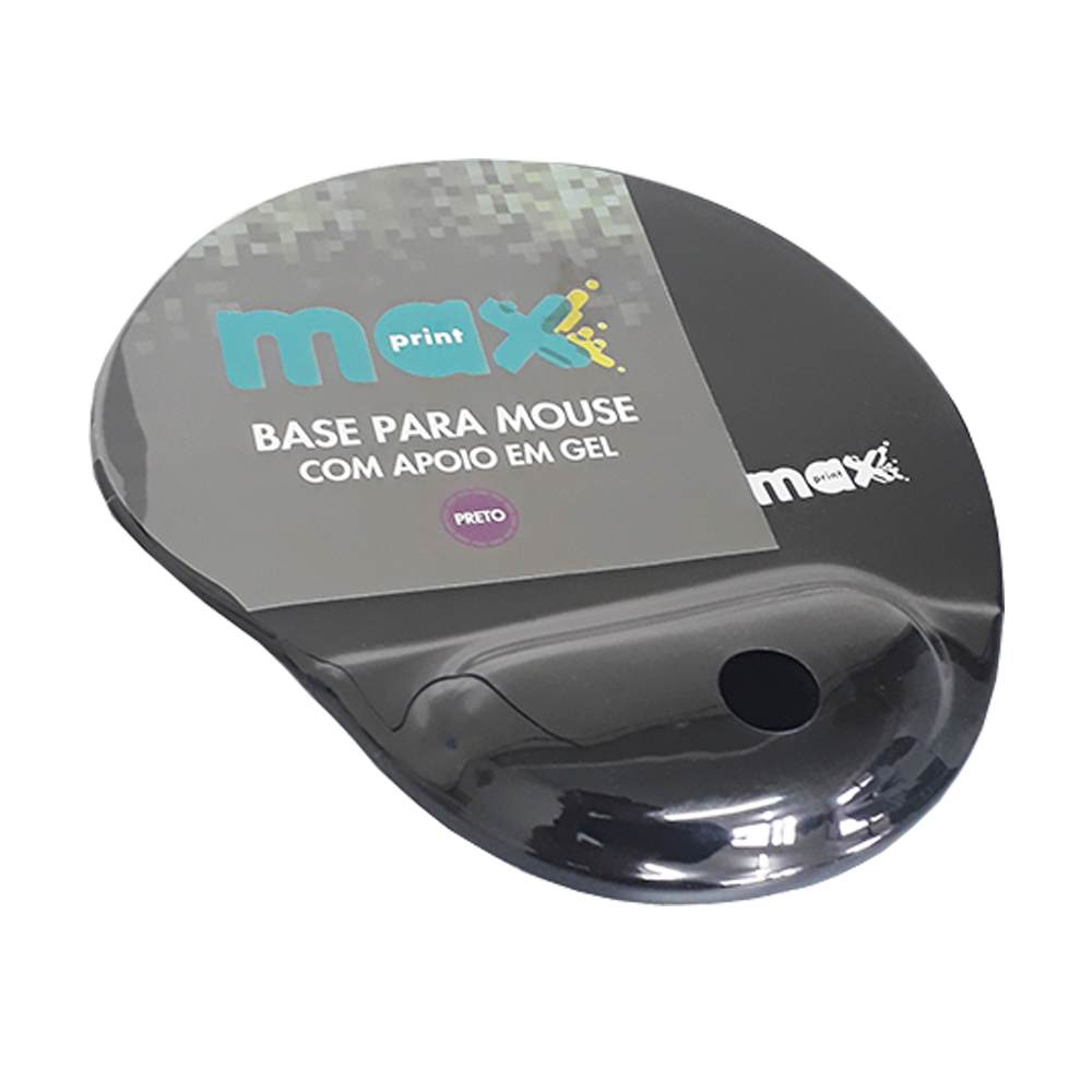 Mousepad com Apoio em Gel Preto - Maxprint