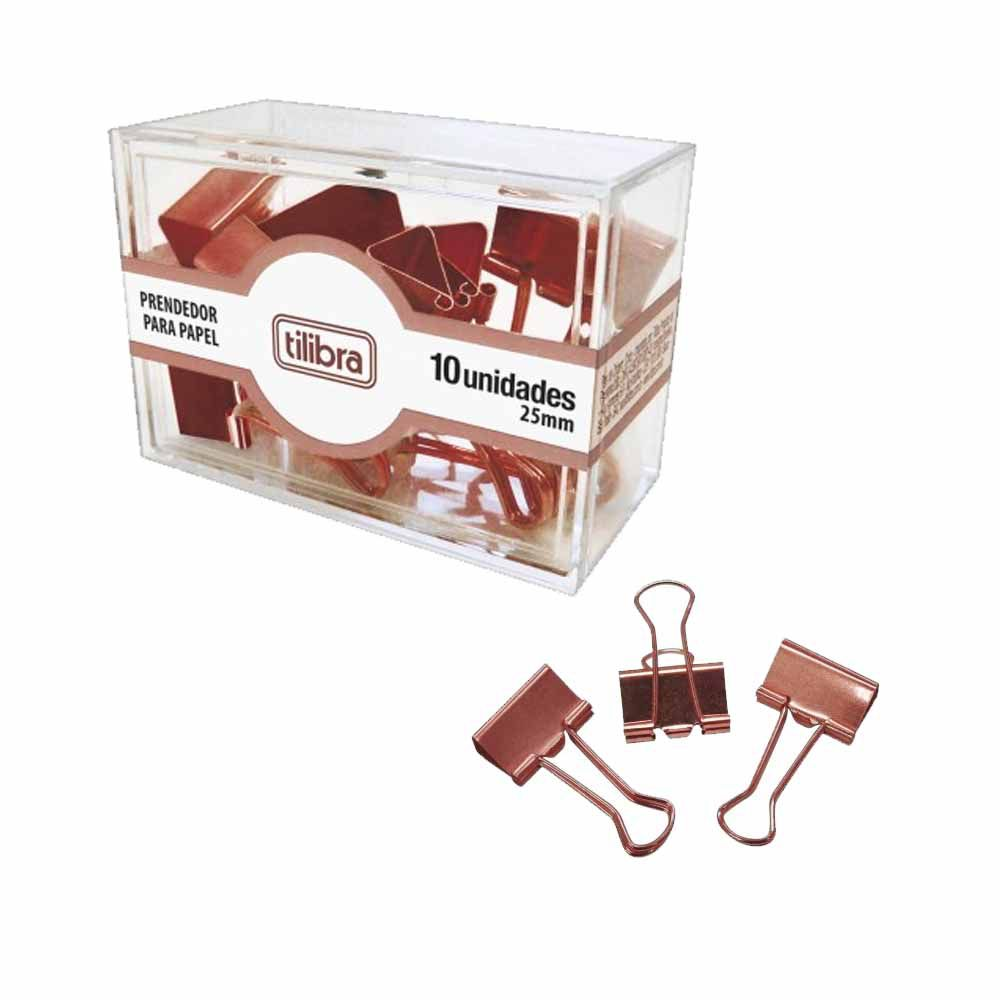 Prendedor de Papel Rose Gold 25MM CX/10 - Tilibra