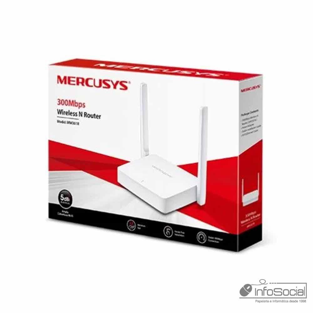Roteador Wi-fi 300MBPS 2 Antenas MW301R -Mercusys