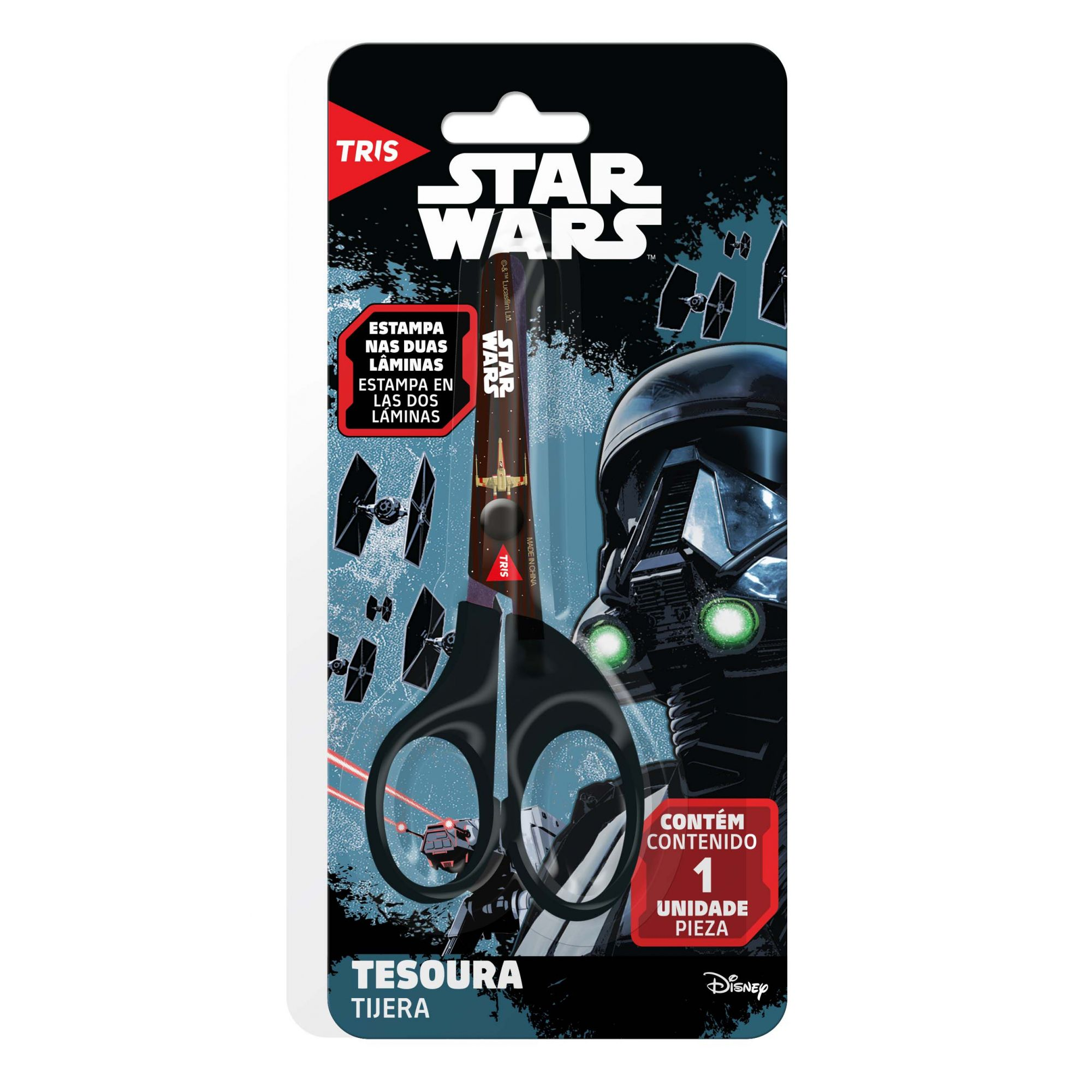 Tesoura Escolar Star Wars - Tris