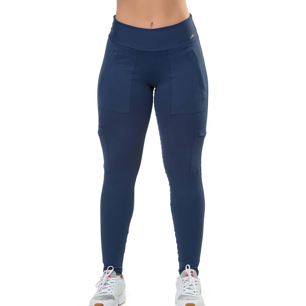 Calça Legging Elite Uv 50 Fitness Com Bolso Roll Over