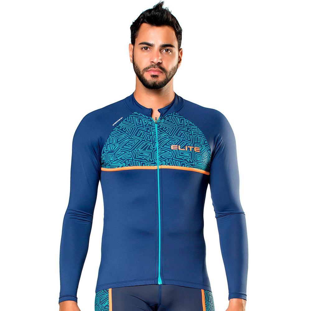 Camisa Ciclismo Manga Longa Elite Uv 50 Giro Dell Emilia