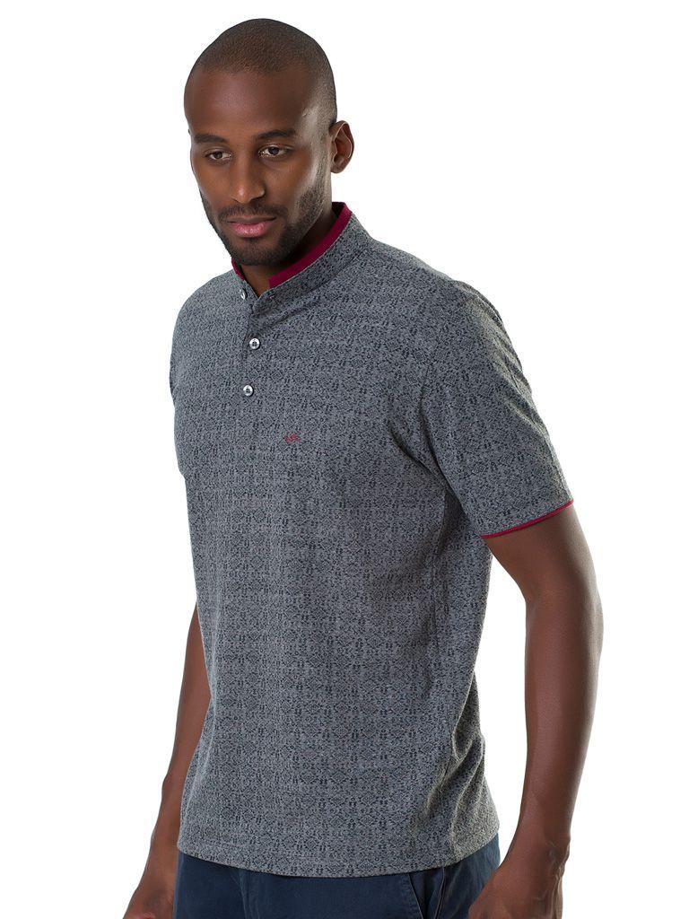 Camisa Polo Gola Mandarim - 135055