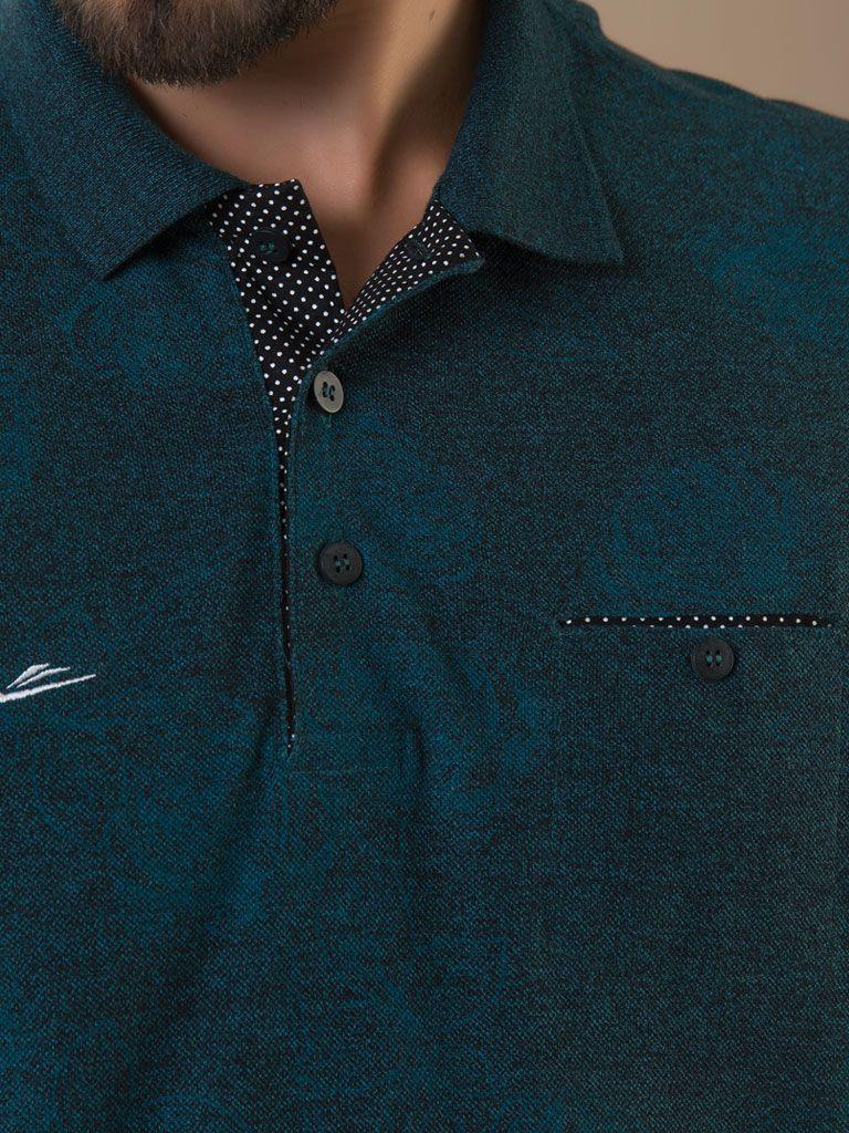 Camiseta Gola Polo com bolso- 125743