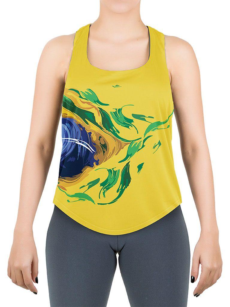 b8f53057a99dc Camiseta Temática Brasil Feminina - 119682