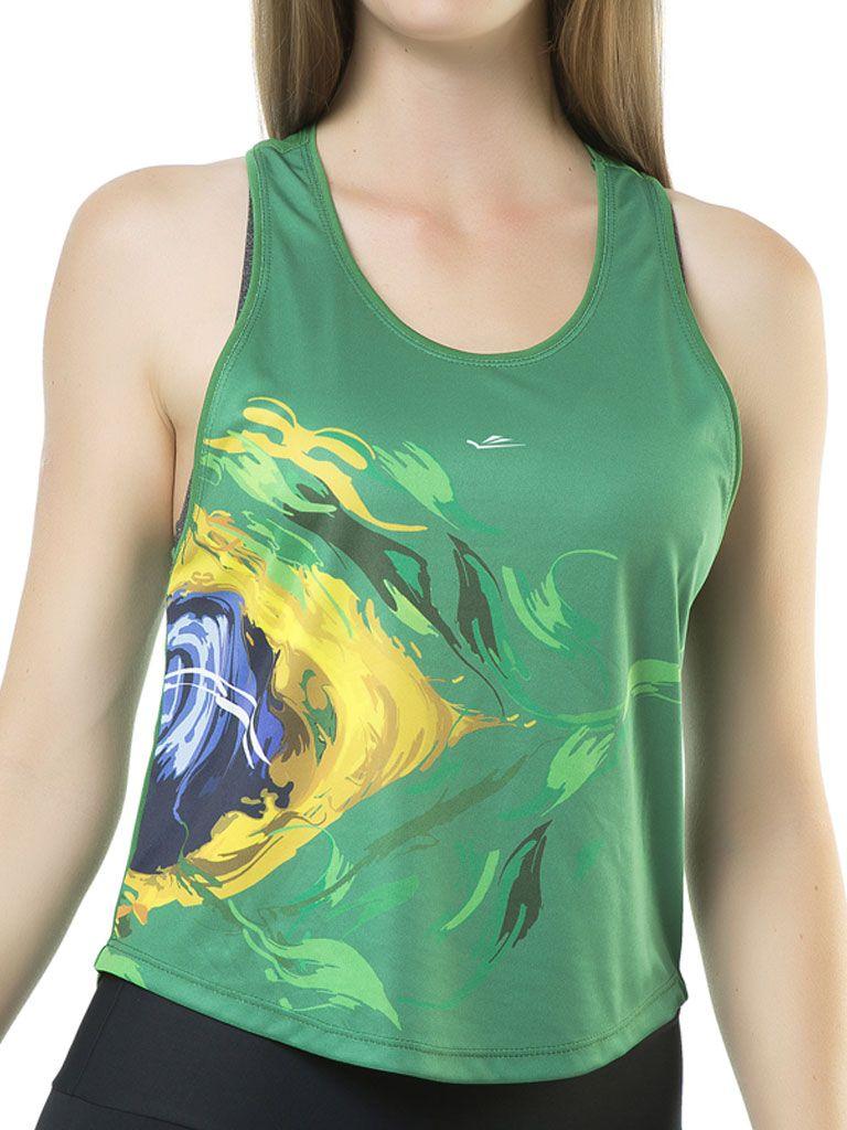 Camiseta Temática Brasil Feminina - 119682