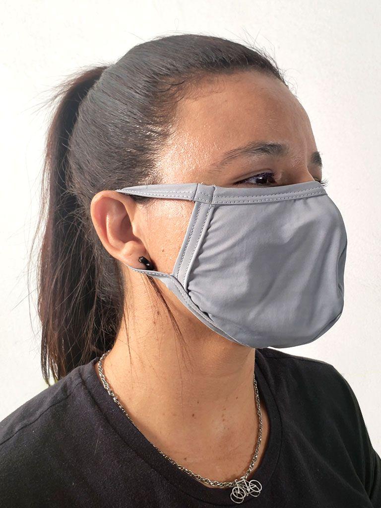Máscara de Proteção Facial Preta Kit c/ 8 - 20997
