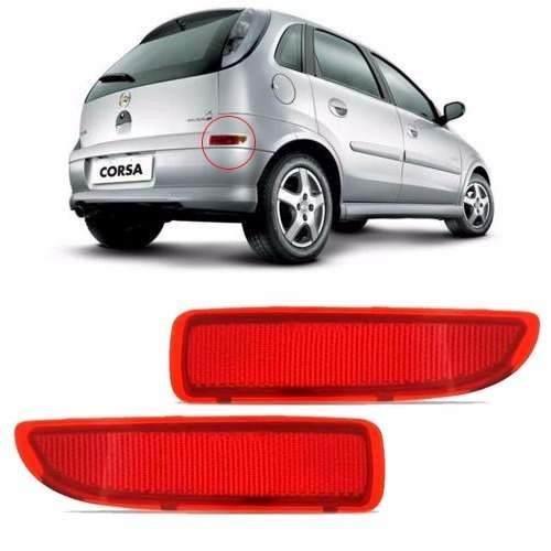 Par Refletor Parachoque Traseiro Corsa Hatch 2003 À 2011