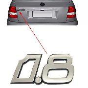 Emblema 1.8 Traseiro Cromado Mala Polo Classic 1997 À 2001