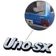 Emblema Traseiro Uno Sx Letreiro Cromado Linha Antiga