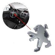 Emblema Cromado Para O Volante Do Peugeot 206 207