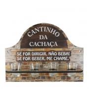 PLACA CANTINHO DA CACHAÇA DECORATIVO