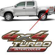 Emblema Adesivo 4x4 Turbo Intercooler Hilux unidade