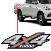 Emblema Adesivo 4x4 Turbo Nova Hilux 2016 2017 2018