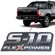 Emblema Adesivo S10 Flex Power 2009 2010 2011 Vermelho