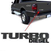 Emblema Adesivo Turbo Diesel Ranger 99 à 02 2003 2004 Preto