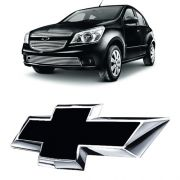 Emblema Preto Chevrolet Agile 2010 à 13 2014 2015 Dianteiro