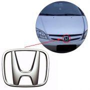 Emblema Da Grade Honda Civic 2004 2005 2006 Cromado