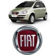 Emblema Dianteiro Fiat Idea 2008 2009 2010 Borda Cromada