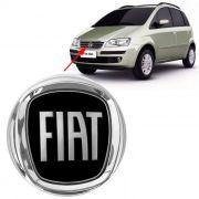 Emblema Dianteiro Fiat Idea 2008 2009 2010 Preto