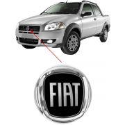Emblema Fiat Strada 2008 2009 2010 2011 2012 Preto Dianteiro
