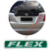 Emblema Flex Honda Fit 2009 2010 2011 2012 2013 2014 Mala