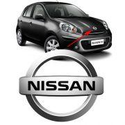 Emblema Grade Logo Nissan March 2012 2013 2014 Cromado