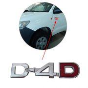 Emblema Lateral D-4D Hilux 2006 à 2011 2012 2013 2014 2015