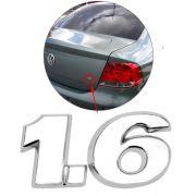 Emblema Letreiro 1.6 Voyage G5 2009 à 2011 2012 Cromado Mala
